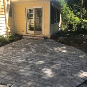Back brick patio