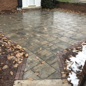 Brick and stone patio